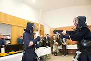 19/03/2014 Japanese evening at the Galway Education Centre with a Kendo display by Galway Kendo Club members Daniel Mulcahy and  Macdara Maguire . Photo:Andrew Downes .