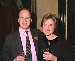 MR & MRS RANDOLPH CHURCHILL son of Winston Churchill MP at a party in London on 3rd November 1997.MCU 11