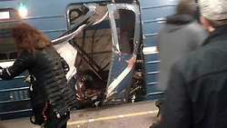 April 3, 2017 - Saint Petersburg, Russia - At least 10 people have been killed after two explosions on the Saint Petersburg's Sennaya and Tekhnologichesky Institut  metro stations. (Credit Image: © Russian Look via ZUMA Wire)