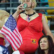 USA fans during the Australia V USA, Pool C match during the IRB Rugby World Cup tournament. Wellington Stadium, Wellington, New Zealand, 23rd September 2011. Photo Tim Clayton...