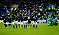 Fotball<br /> England 2004/2005<br /> Foto: BPI/Digitalsport<br /> NORWAY ONLY<br /> <br /> Leicester City v Queens Park Rangers<br /> Coca Cola Championship<br /> 03/01/2005<br /> <br /> Both teams observe a minutes silence.