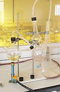 Distillation and analysis bottles. Herdade das Servas, Estremoz, Alentejo, Portugal
