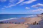 AMHK17 Cromer sandy beach Norfolk England