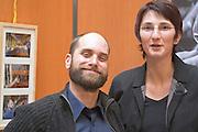 Geraldine Combes-Peyraud and Xavier Peyraud, owners of Mas des Brousses, Vin de Pays de St Guilhem le Desert, Puechabon, Languedoc, France
