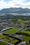 An aerial view of Fitzgerald Stadium in Killarney in County Kerry.<br /> Picture by Don MacMonagle -macmonagle.com