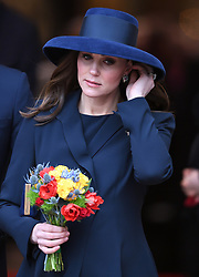 Members of The Royal Family attend the Commonwealth Day Observance Service at Westminster Abbey, London, UK, on the 12th March 2018. 12 Mar 2018 Pictured: Catherine, Duchess of Cambridge, Kate Middleton. Photo credit: James Whatling / MEGA TheMegaAgency.com +1 888 505 6342