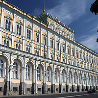 Europe, Russia, Moscow, Grand Kremlin Palace, a UNESCO World Heritage Site.