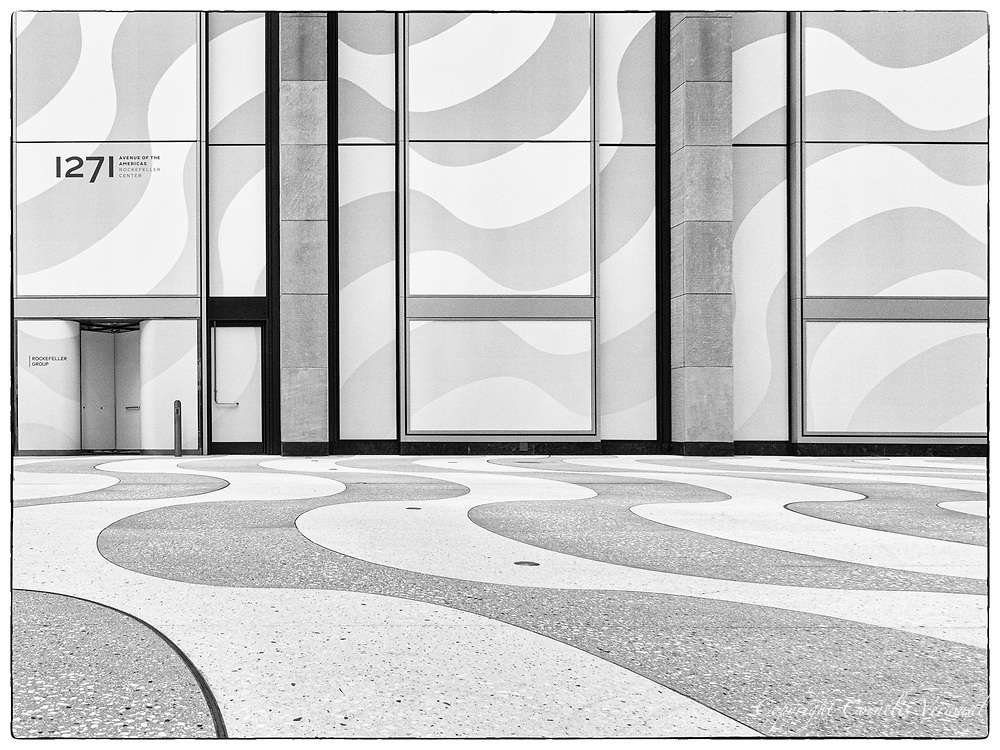 Newly renovated plaza at 1271 Avenue of the Americas, based on the Roberto Burle Marx design of the Copacabana in Rio de janeiro, Brazil