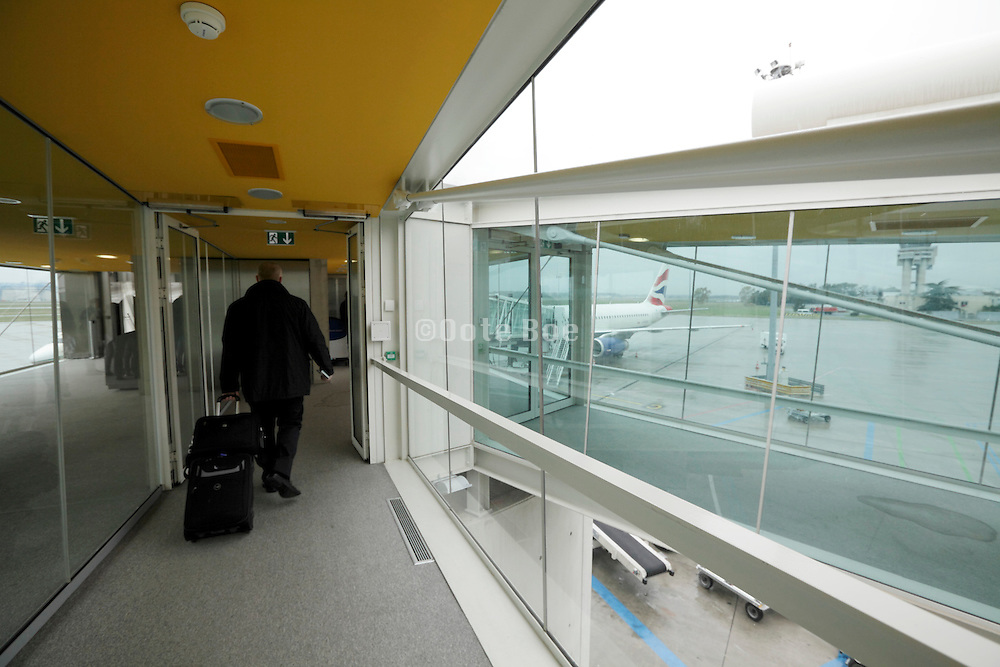 passenger walking to airplane