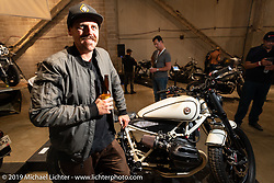 RSD's Cameron Brewer at the Handbuilt Show. Austin, TX. USA. Saturday April 21, 2018. Photography ©2018 Michael Lichter.
