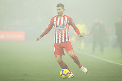 January 19, 2019 - Huesca, Aragon, Spain - Lucas Hernandez of Atletico de Madrid (21) during the Spanish League football match between SD Huesca andClub Atletico de Madrid at the El Alcoraz stadium in Madrid on January 19, 2019. Atletico wins 0-3. (Credit Image: © Daniel Marzo/Pacific Press via ZUMA Wire)
