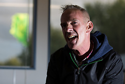 © Licensed to London News Pictures . 06/06/2015. Manchester , UK . The DJ , NORMAN COOK ( Fatboy Slim ) , backstage at The Parklife 2015 music festival in Heaton Park , Manchester . Photo credit : Joel Goodman/LNP