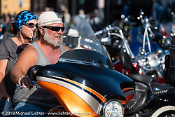 Main Street during the 78th annual Sturgis Motorcycle Rally. Sturgis, SD. USA. Saturday August 11, 2018. Photography ©2018 Michael Lichter.