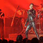 """COLUMBIA, MD - July 20th, 2014 - 2009 American Idol runner-up Adam Lambert performs with Queen at Merriweather Post Pavilion in Columbia, MD. Lambert sang such Queen classics as """"Another One Bites the Dust"""" and """"Stone Cold Crazy."""" (Photo by Kyle Gustafson / For The Washington Post)"""