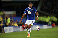 Ashley Williams of Everton in action. EFL Cup, 3rd round match, Everton v Norwich city at Goodison Park in Liverpool, Merseyside on Tuesday 20th September 2016.<br /> pic by Chris Stading, Andrew Orchard sports photography.