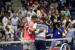 August 29, 2017 - New York, New York, USA - AUG 29, 2017: Rafael Nadal (ESP) and Dusan Lajovic (SRB) during the 2017 U.S. Open Tennis Championships at the USTA Billie Jean King National Tennis Center in Flushing, Queens, New York, USA.AUG 29, 2017: Rafael Nadal (ESP) during the 2017 U.S. Open Tennis Championships at the USTA Billie Jean King National Tennis Center in Flushing, Queens, New York, USA. (Credit Image: © David Lobel/EQ Images via ZUMA Press)