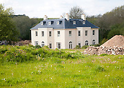 Newly constructed rural mansion house, Axford, Wiltshire, England, UK