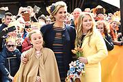 Koningsdag 2017 in Tilburg / Kingsday 2017 in Tilburg<br /> <br /> Op de foto / On the photo:  Koningin Maxima en prinsessen Alexia, Ariane en Amalia / Queen Maxima and Princesses Alexia, Ariane and Amalia