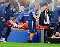 Photo: Leigh Quinnell.<br /> Queens Park Rangers v Cardiff City. Coca Cola Championship. 18/08/2007. Cardiffs Kevin McNaughton is taken off after an injury.