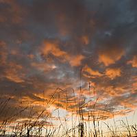 Sunset over Gallatin Valley near Bozeman, Montana.