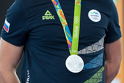 Silver medal during reception of Slovenian Olympic Team at BTC City when they came back from Rio de Janeiro after Summer Olympic games 2016, on August 26, 2016 in Ljubljana, Slovenia. Photo by Matic Klansek Velej / Sportida