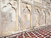 Wall and pavement at the Taj Mahal, Agra, India.