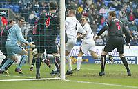 Photo: Aidan Ellis.<br /> Bolton Wanderers v Sunderland. The Barclays Premiership. 18/03/2006.<br /> Bolton's kevin Davis scores the first goal