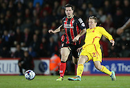 Liverpool midfielder Lucas Leiva during the Capital One Cup match between Bournemouth and Liverpool at the Goldsands Stadium, Bournemouth, England on 17 December 2014.