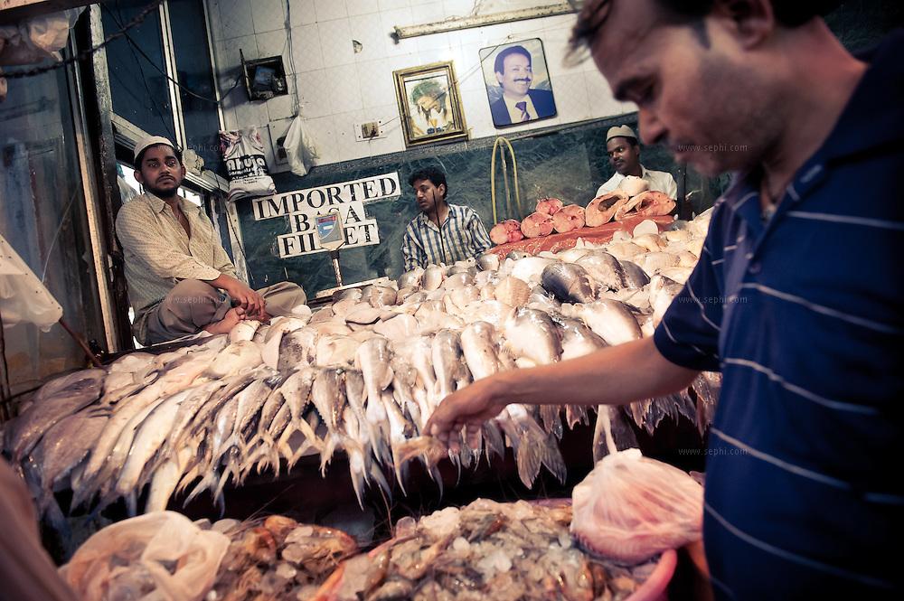 fresh fish for sale at INA market New Delhi