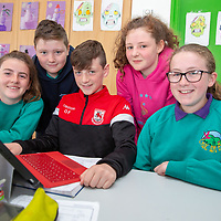 Knockanean NS Students Ella Courtney, Jack O'Halloran, Odran Flynn, Lily McMahon and Orla McCabe working on their Jessies Project
