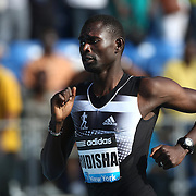 David Rudisha, Kenya, winning the adidas Men's 800m during the Diamond League Adidas Grand Prix at Icahn Stadium, Randall's Island, Manhattan, New York, USA. 14th June 2014. Photo Tim Clayton
