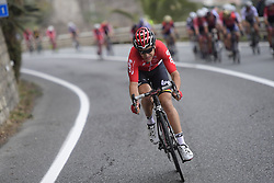 March 18, 2017 - San Remo, Italie - SANREMO, ITALY - MARCH 18 : GALLOPIN Tony (FRA) Rider of Team Lotto - Soudal is attacking during the UCI WorldTour 108th Milan - Sanremo cycling race with start in Milan and finish at the Via Roma in Sanremo on March 18, 2017 in Sanremo, Italy, 18/03/2017 (Credit Image: © Panoramic via ZUMA Press)