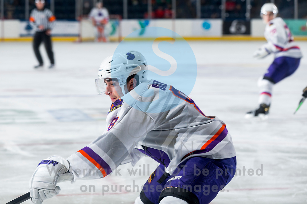 The Youngstown Phantoms defeat the Chicago Steel 5-2 at the Covelli Centre on January 23, 2021.<br /> <br /> Jack Silich, forward, 8