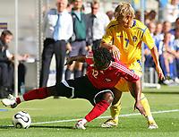 v.l. Collin Samuel, Niclas Alexandersson Schweden<br /> Fussball WM 2006 Trinidad und Tobago - Schweden <br /> Sverige<br /> <br /> Norway only