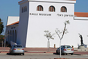 Israel, Caesarea, Ralli Museum of modern art. The exterior of the building housing the collection