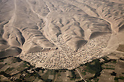 Aerial view down on Northern Afghanistan in the Kunduz/Baghlan area, seen from a Helicopter.