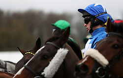 James Bowen with Raz De Maree at the start of the Coral Welsh Grand National Handicap Chase during Coral Welsh Grand National Day at Chepstow Racecourse, Chepstow. PRESS ASSOCIATION Photo. Picture date: Saturday January 6, 2018. See PA story RACING Chepstow. Photo credit should read: David Davies/PA Wire.