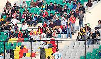 NEW DELHI - Belgische supporters tijdens de  poulewedstrijd in de finaleronde van de Hockey World League tussen de mannen van Argentinie en Belgie. ANP KOEN SUYK