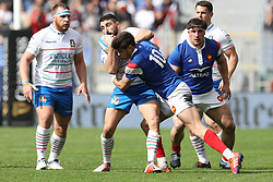March 16, 2019 - Rome, RM, Italy - Romain Ntamack of France catching the ball during the Six Nations International Rugby Union match between Italy and France at Stadio Olimpico on March 16, 2019 in Rome, Italy. (Credit Image: © Danilo Di Giovanni/NurPhoto via ZUMA Press)