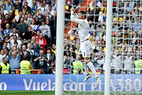 SPAIN, Madrid:Real Madrid's Portuguese forward Cristiano Ronaldo Celebrates a goal during the Spanish League 2015/16 match between Real Madrid and UD UD Las Palmas, at Santiago Bernabeu Stadium in Madrid on October 31, 2015. (Photo by Guillermo Martinez /Nurphoto)