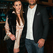 Joe Joyce and girlfriend Alicia Moore attend the Supermodel UK glamour Model of the Year 2016 at DSTRKT on 23rd November 2016 in London,UK. Photo by See