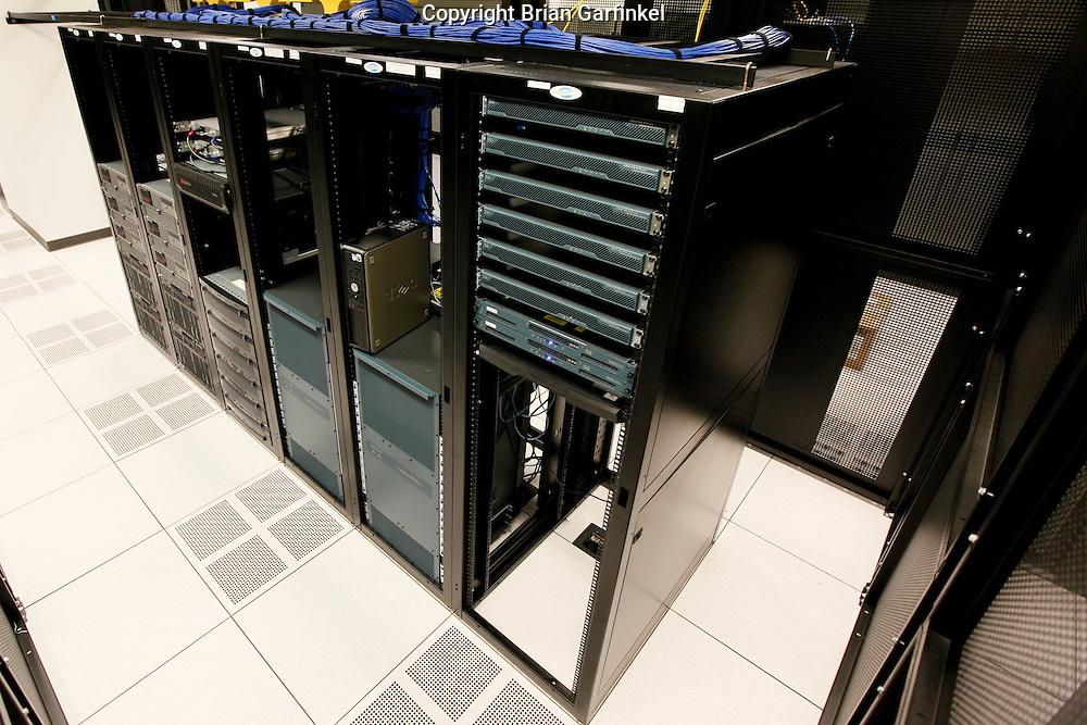 A Computer Data Center in Philadelphia, Pennsylvania. (Photo By Brian Garfinkel)