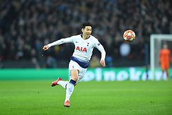 February 13, 2019 - London, England, United Kingdom - Tottenham forward Heung-Min Son on the march during the UEFA Champions League match between Tottenham Hotspur and Ballspielverein Borussia 09 e.V. Dortmund at Wembley Stadium, London on Wednesday 13th February 2019. (Credit: Jon Bromley | MI News & Sport Ltd) (Credit Image: © Mi News/NurPhoto via ZUMA Press)