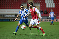 Joe Mattock (Rotherham United) goes to clear the ball as Brighton & Hove Albion winger Anthony Knockaert (11) closes him down during the EFL Sky Bet Championship match between Rotherham United and Brighton and Hove Albion at the AESSEAL New York Stadium, Rotherham, England on 7 March 2017. Photo by Mark P Doherty.