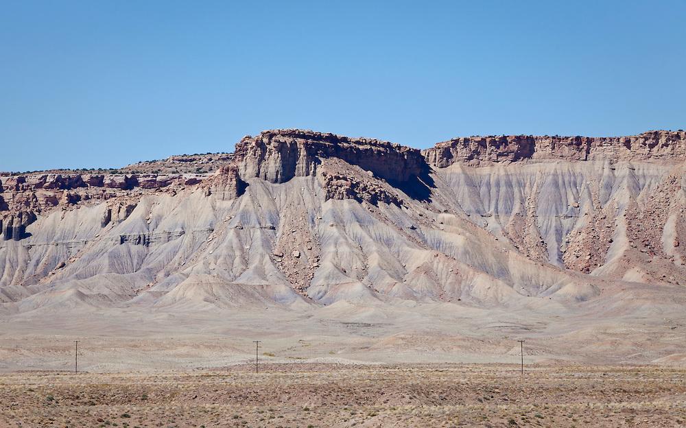 A mesa in the desert of central Utah near Highway 70.