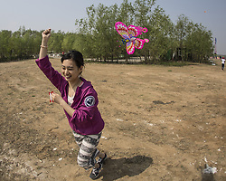 April 26, 2018 - Beijing, Beijing, China - Beijing, CHINA-26th April 2018: The Beijing International Kite Flying Festival is held at Beijing Garden Expo Park in Fengtai District,Beijing, April 26th, 2018. (Credit Image: © SIPA Asia via ZUMA Wire)