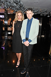PHOEBE COLLINGS JAMES and MATTHEW STONE at W London - Leicester Square for the Liberatum Cultural Honour in Spice Market for John Hurt, CBE in association with artist Svetlana K-Lié on 10th April 2013.