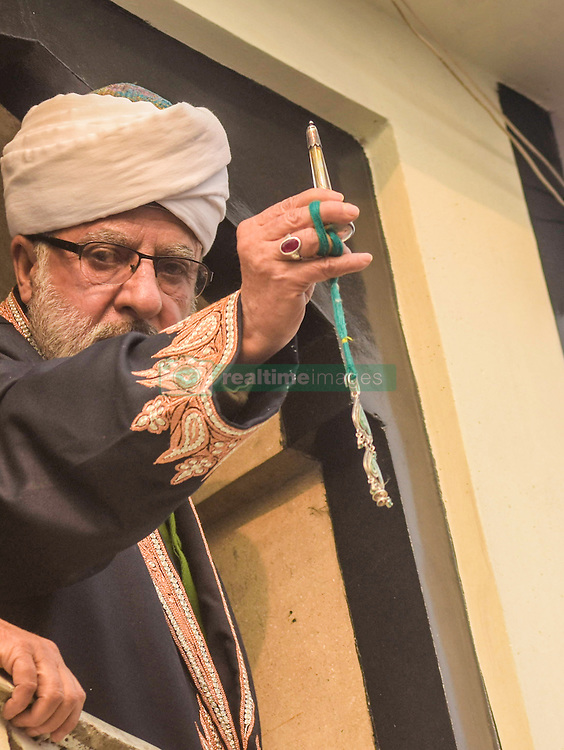 December 12, 2016 - Srinagar, Jammu and Kashmir, India - A Kashmiri Muslim  cleric displaying the holy relic believed to be the whisker from the beard of the Prophet Mohammed,  at Hazratbal shrine during Eid-e-Milad , or the birth anniversary of Prophet Mohammad on December 12, 2016 in Srinagar, the summer capital of Indian administered Kashmir, India. Thousands of Kashmiri Muslims thronged to the shrine to pay obeisance on the  Eid-e-Milad , or the birth anniversary of Prophet Mohammed  to have the glimpse of the holy relic believed to be the whisker from the beard of the Prophet Mohammed. The relic is displayed to the devotees on important Islamic days such as the Eid- Milad when Muslims worldwide celebrate(Photo by Yawar Nazir/Nur Photo) (Credit Image: © Yawar Nazir/NurPhoto via ZUMA Press)