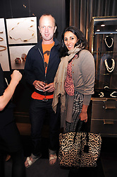 JOHNNIE SHAND KYDD and SERENA REES at a party to launch the Annoushka and Manuela Zervudachi jewellery collaboration held at Annoushka, 41 Cadogan Gardens, London on 28th April 2010.