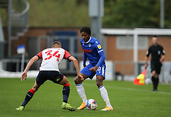 Jevani Brown of Colchester United is closed down by Tom Hamer of Oldham Athletic - Mandatory by-line: Arron Gent/JMP - 03/10/2020 - FOOTBALL - JobServe Community Stadium - Colchester, England - Colchester United v Oldham Athletic - Sky Bet League Two